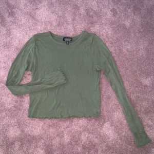 Topshop Tops - Top shop Cropped Long-Sleeve